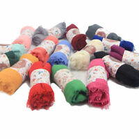 Women Premium Viscose Scarf Maxi Crinkle Cloud Hijab Shawl Soft Islam Muslim #@