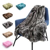 Faux Fur Bed Blanket Super Soft Thick Cozy Warm Fluffy Plush Throw Sofa Blanket
