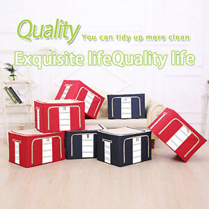 22L Transparent Steel Frame Waterproof Moisture-Proof Cloth Quilt Storage Box