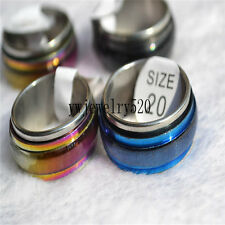 10pcs Rainbow cat eye style Stainless steel Rings Jewelry lots FREE