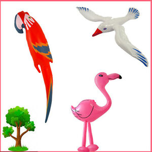 Inflatable Parrot/Seagull/Flamingo Kid's Fun Party Bag Fancy Dress Blow-Up Birds