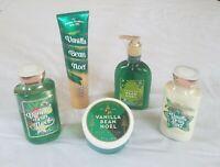 """Bath Body Works """"Vanilla Bean Noel"""" Lotion + Shea Butter, Shower Gel, Scrub Lot"""
