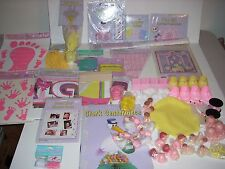 Girl Baby Shower Party Supply Bundle Pink Yellow Banner Favors Games Centerpiece