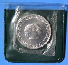 1937-1962 Netherlands Queen Juliana Wedding 25th Anniversary Proof Silver Medal