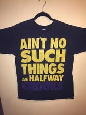 crooks and castles  Ain't No Such Things Yellow And Purple Letters  Size Medium