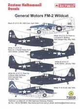 Techmod Decals 1/72 GENERAL MOTORS FM-2 WILDCAT Carrier Fighter