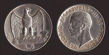 5 LIRE 1927 AQUILOTTO ARGENTO/SILVER - VITTORIO EMANUELE III