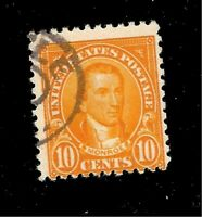 US Stamp SC # 591 10 c Monroe USED - Light Cancel - Crisp Color