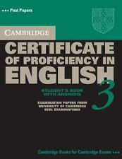 Cambridge Certificate of Proficiency in English 3 Self Study Pack with Answers: