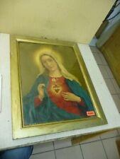 6689. Alter Biedermeier Bilderrahmen Rahmen mit Heiligenbild