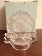 Partylite Glass Sunflower Tealight Votive Candle Holder
