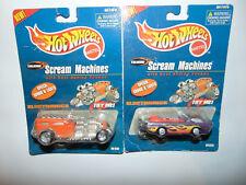 2) Hot Wheels Talking Scream Machines Deora & Way 2 Fast HW ORANGE/PURPLE Set **