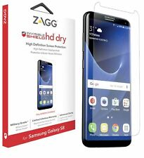 New Genuine Zagg Invisibleshield HD Dry Screen Protector For Samsung Galaxy S8