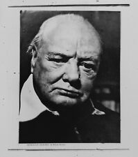 Antique Microscope Slide. Microphotograph of Sir Winston Churchill