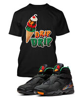 Drip Drip Tee Shirt to Match Retro Jordan 8 Air Raid Shoe Mens Graphic