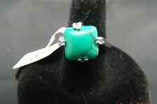 NEW MENS WOMENS OVAL TURQUOISE RING SILVER PLATED SIZE 8 [137]