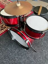 Child's red and silver 7 piece drum kit excellent condition from smoke free home