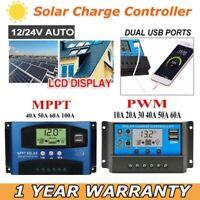 10A-100A LCD MPPT Solar Panel Battery Regulator Charge Controller 12V 24V USB