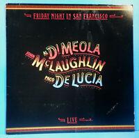 AL DIMEOLA JOHN MCLAUGHLIN PACO DELUCIA FRIDAY NIGHT IN SAN FRANCISCO VG++/VG+!!