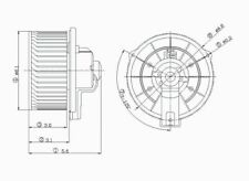 Global Parts Distributors 2311263 New Blower Motor Without Wheel