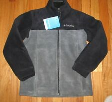 Columbia Boys Gray Black Granite Mountain Fleece Jacket 8 NWT