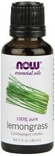 1 Bottle of NOW Foods Lemongrass Oil 100% Pure, 1 Ounce Diffuser & Burner Use