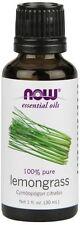 1 Bottle of NOW Foods Lemongrass Oil 100% Pure, 1 Ounce Diffuser & Burner Use