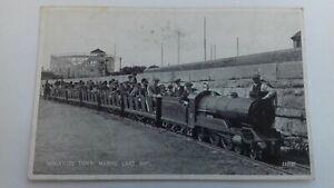 Vintage  Postcard Miniature Train Marine Lake Rhyl  Valentines