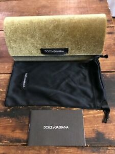 Dolce & Gabbana Sunglasses Eyeglasses Velvet Hard Large Case w/ soft bag New