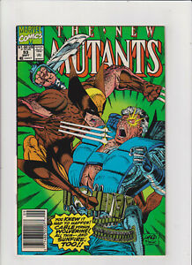New Mutants #93 VF 8.0 Newsstand Marvel Wolverine vs. Cable, Rob Liefeld 1990