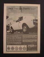 "1968 American Motors AMX Track wheels AMC Javelin *Original*Ready to Display"" ad"