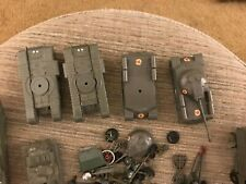 """Lot of Vintage Plastic Army Toy Vehicle Parts - Green - Vehicles 2.5-5"""" Long"""
