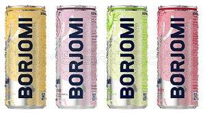 NEW BORJOMI Flavored Sparkling Water Citrus Strawberry Cherry Lime 4 x 330ml