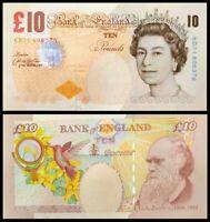 UK / Great Britain 2000 (2004) 10 Pounds Bank Note Darwin aUNC P389c