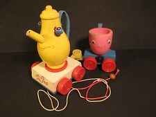 Vintage Sears Tea Time Teapot and Teacup Pull Toy