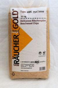Räucherspäne, Räuchergold, 750/2000, 15kg, Räuchermehl, Räuchern, 0,99€/kg