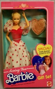 1983 LOVING YOU BARBIE GIFTSET - VALENTINE - MINT & COMPLETE