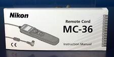 Nikon Remote mc-36 manual cuadernillo Mode d 'emploi folieto de instruccio - 200267