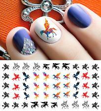 Pegasus Horse Nail Art Waterslide Decals - Salon Quality!