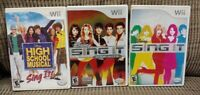 Nintendo Wii & Wii U Game Lot Disney Sing It,, Pop Hits, High School Musical