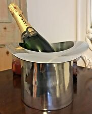 Polished Aluminium Top Hat Ice Bucket / Champagne Wine Cooler 17 x 25 x 26 cm