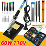 Soldering Iron Kit 60W 110V Electric Adjustable Welding Tool Solder Station 23PC