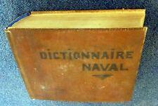 Marine DICTIONNAIRE DES TERMES DE LA NAVIGATION DICTIONARY OF NAVAL TERMS Rare