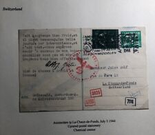 1944 Amsterdam Netherlands Postcard Chemical Censored Cover To Switzerland