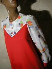 CHIC VINTAGE ROBE TRAPEZE POP 1970 VTG DRESS 70s KLEID 70er ABITO RETRO (38)