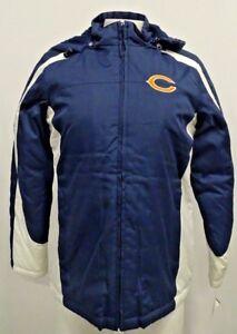 Chicago Bears Women's Hooded Winter Jacket Blue White NFL S