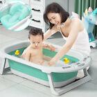 Portable Folding Baby Infant Bathtub With Soft Bath Mat & Temperature Sensitive
