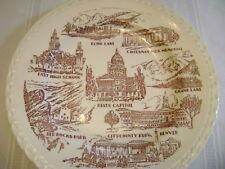 "Vernon Kiln's  city of Denver , Co. wall plate U.S.A. 10 1/2"" round 1"" high"