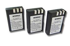 3x INTENSILO BATERIA 1000mAh para Nikon D3000 / D5000 / EN-EL9 / EN-EL9a
