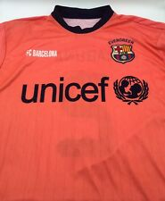 FC Barcelona Barca FCB Away Jersey Shirt Camiseta Unicef Nike L Neon Laguna 2